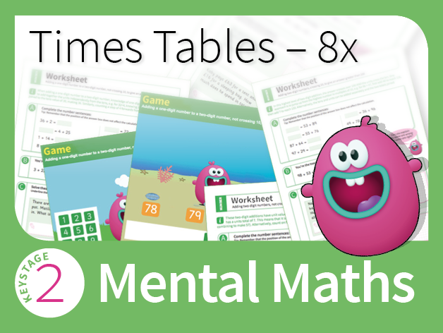 Times Tables Mastery - 8 Times Table