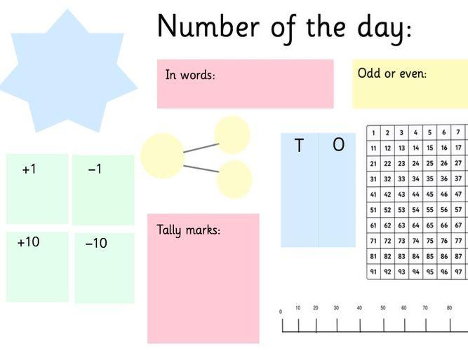 Maths number mat
