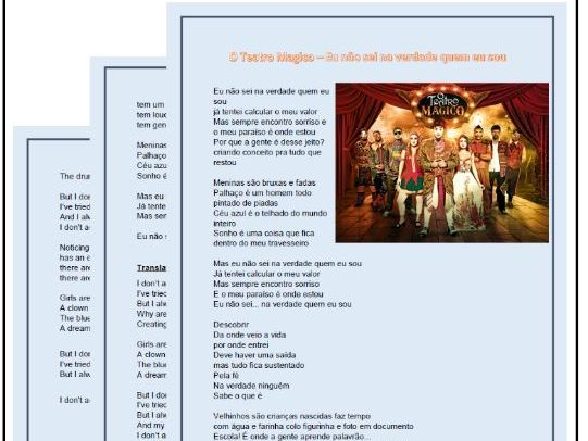 Lyrics for a Brazilian Portuguese song