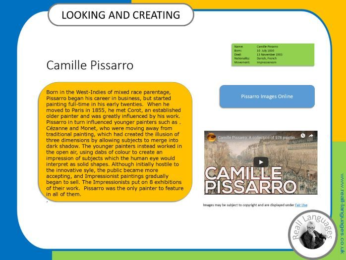 Camille Pissarro.  Looking and Creating: activities inspired by artists