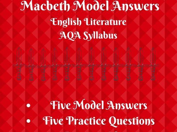 A* GCSE Macbeth Model Answers: AQA Revision Pack