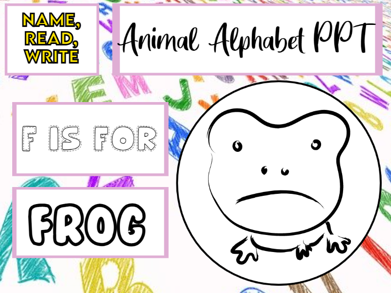 Name, Read, Write Animal Alphabet PPT EYFS/KS1