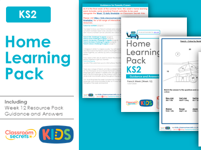 FREE Week 12 French Home Learning Pack for KS2