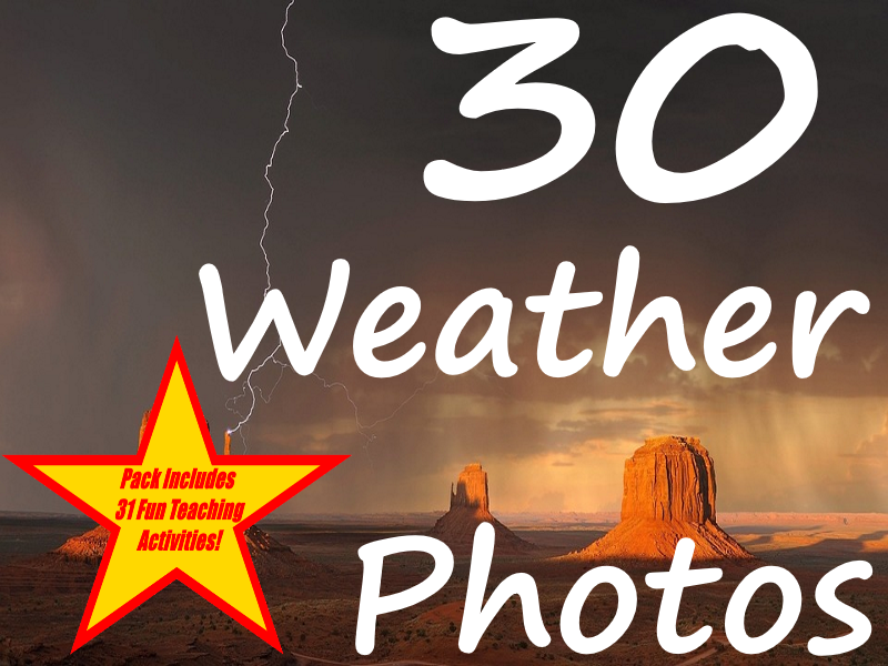 30 Weather Pictures Presentation + 31 Fun Teaching Activities For These Cards