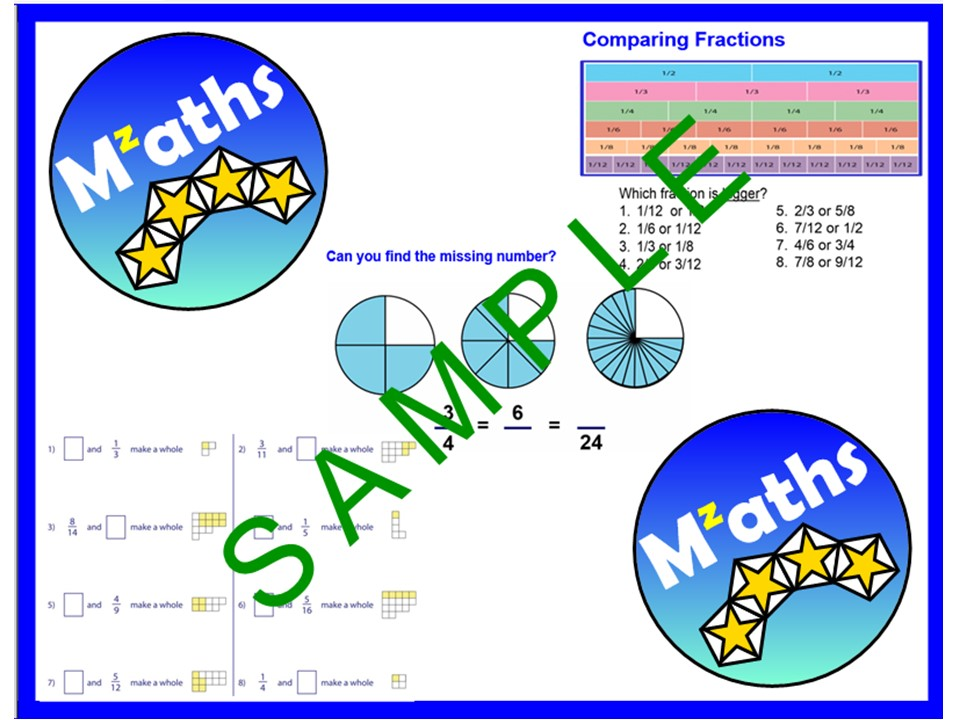 Fractions (2 Lessons) - Equivalent/Comparing/Adding