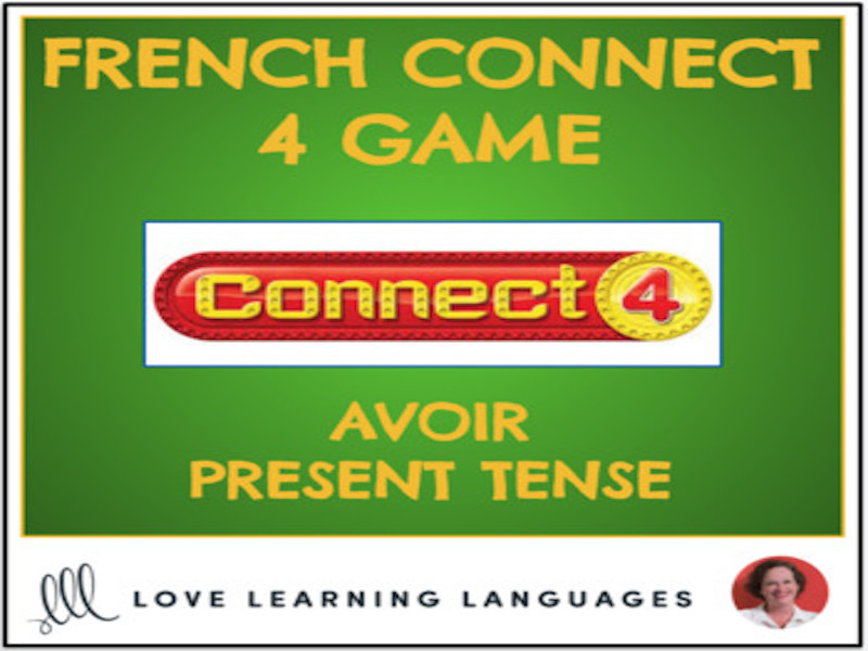 French Connect 4 Game - AVOIR - Present Tense