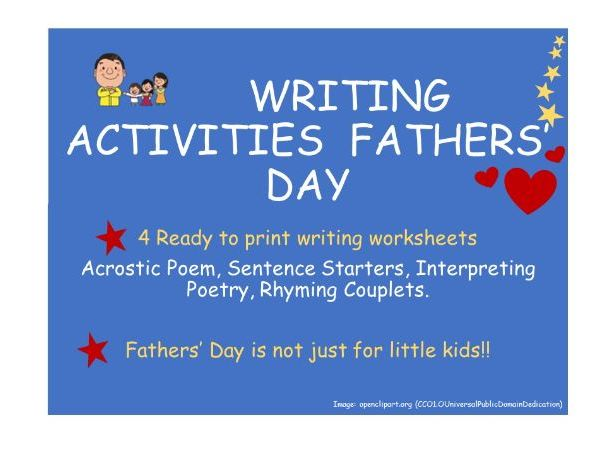 FathersDay WritingActivities