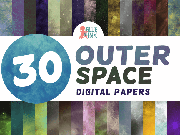 Outer Space Digital Paper – Commercial Use