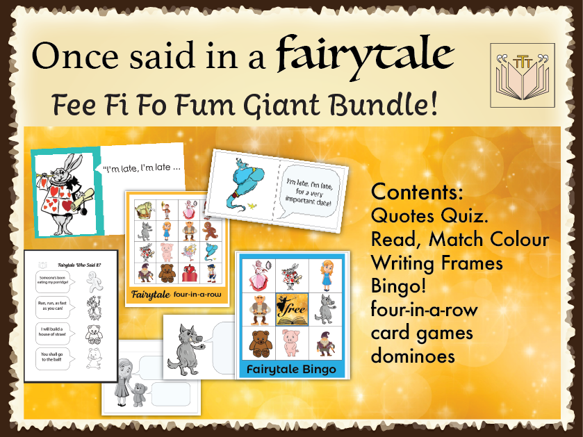 Fee Fi Fo Fum Fairytale Bundle!