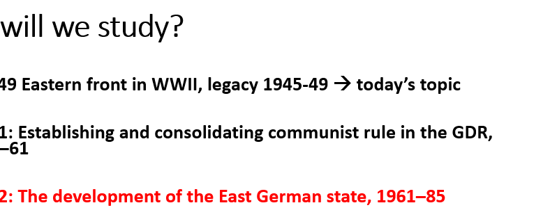 German Democratic Republic (GDR) - Lesson 8 - The end of mass migration – Edexcel