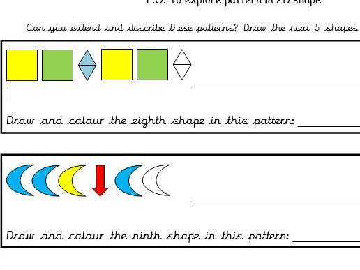 Maths - describe patterns of shape