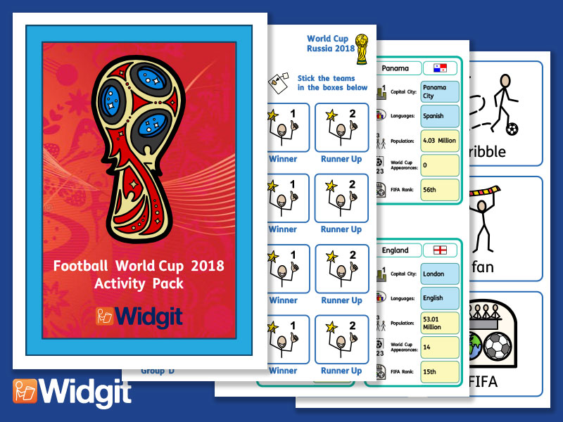 Football World Cup 2018 - with Widgit Symbols