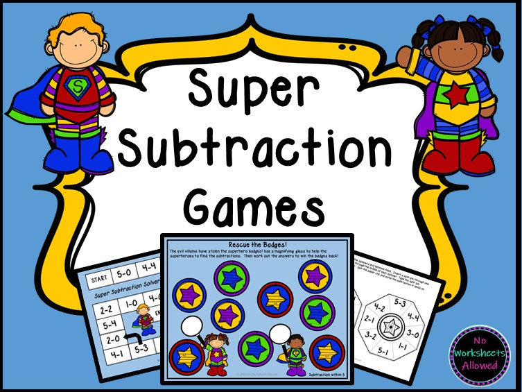 Maths Subtraction Games and Activities - Superhero Theme