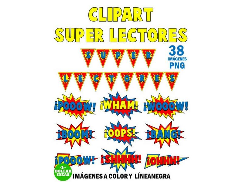 SUPER LECTORES CLIPART