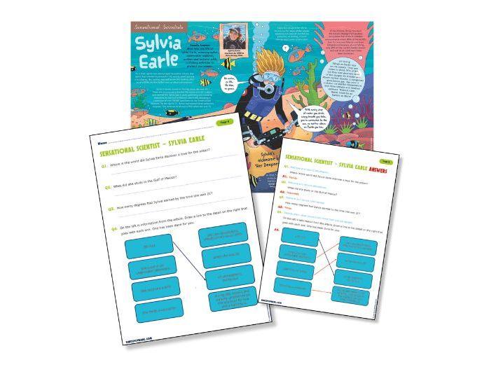 P5 reading science: Sylvia Earle