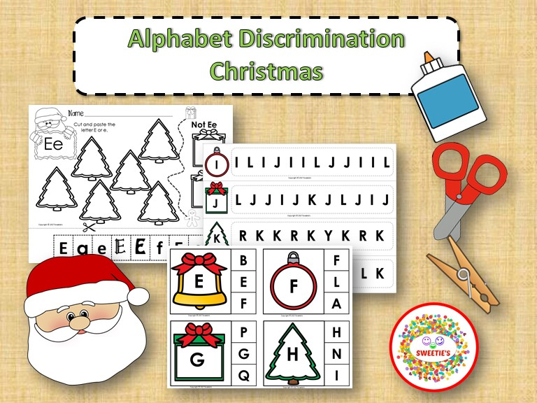 Alphabet Discrimination Activities - Christmas Theme