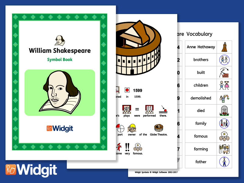William Shakespeare - Books and Activities with Widgit Symbols