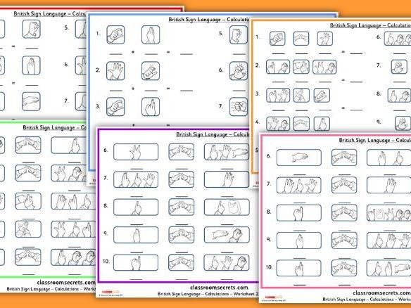 KS1 and KS2 Calculations using British Sign Language