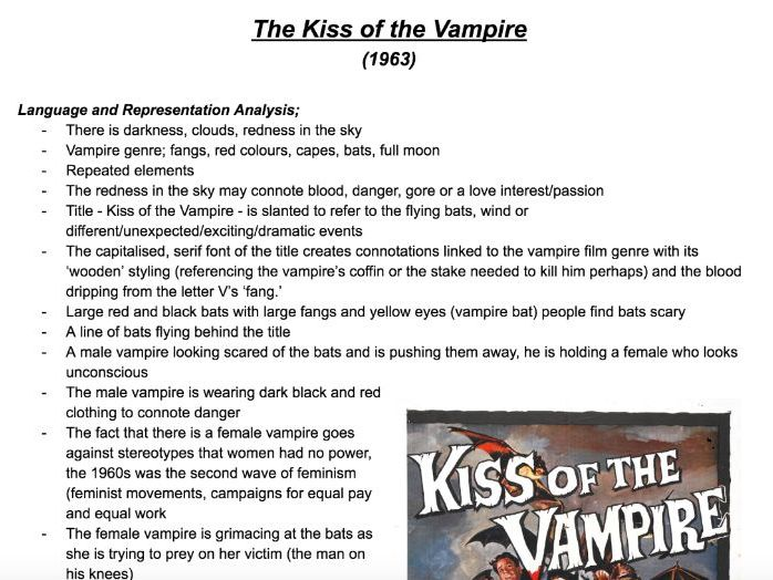 The Kiss of the Vampire Poster Analysis
