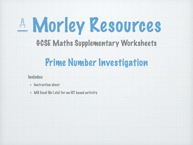 GCSE Maths Prime Number Investigation