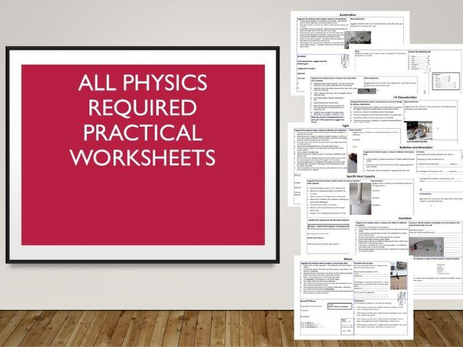 Physics Required Practical Worksheet Revision