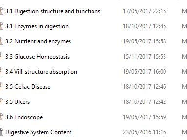 OCR Cambridge Technical Helth and Social Care - Unit 4 Anatomy - Digestive system resources