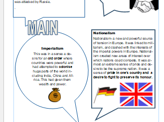 The causes of World war 1. MAIN