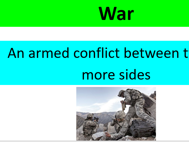 GCSE Edexcel B Religious Studies Peace and Conflict keywords and definition display for Islam paper