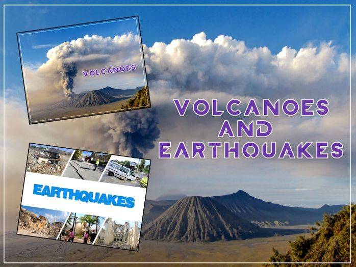 Volcanoes & Earthquakes - KS2 - medium term planning + vocabulary & topic title pages