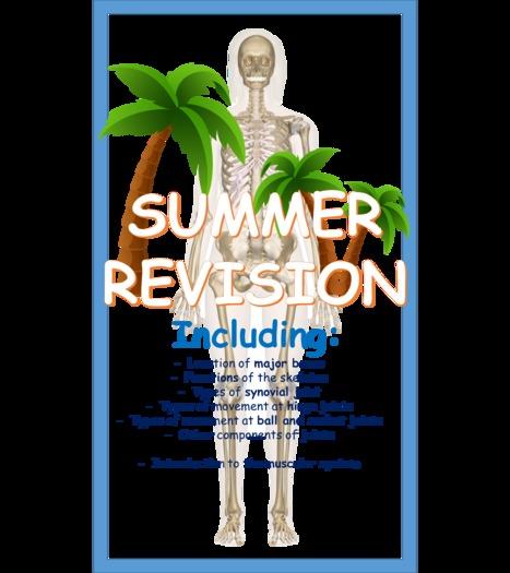 Y10 GCSE PE - Skeletal system revision guide.