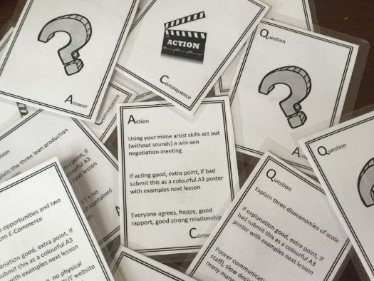 Revision playing cards for iGCSE and GCSE Business that cover the whole syllabus