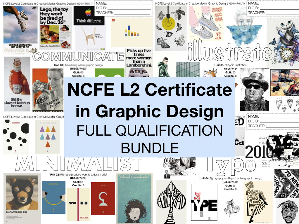 NCFE L2 Graphic Design FULL QUALIFICATION