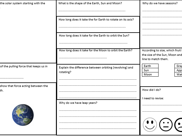 Earth and Space Revision