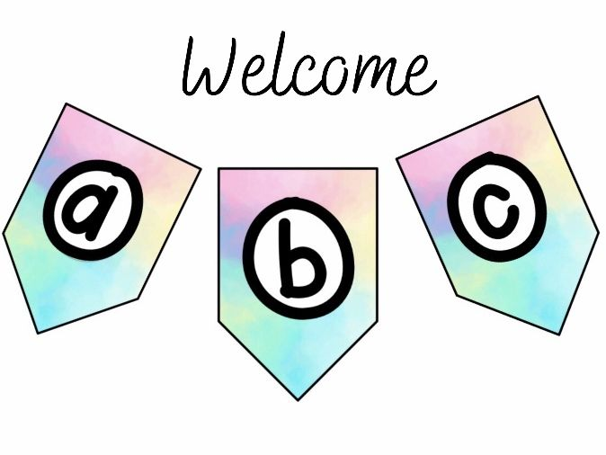 Pastel Bomb Welcome Banner