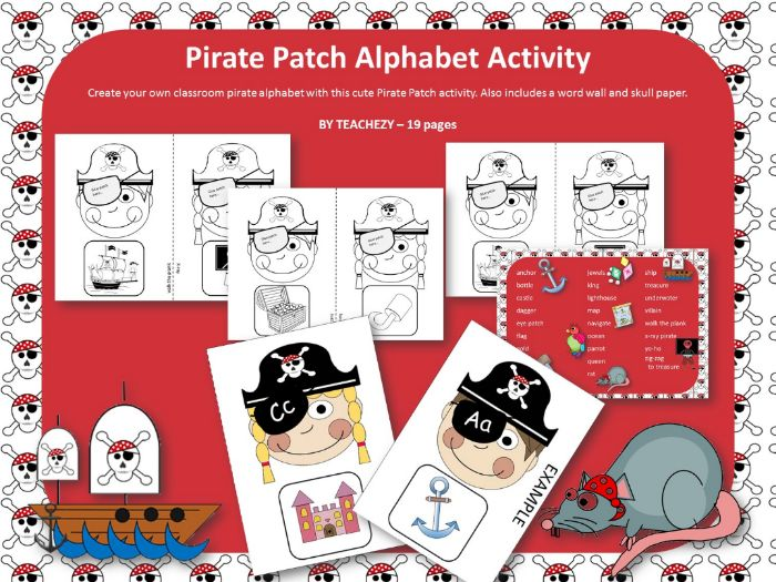 Pirate Patch Alphabet Activity