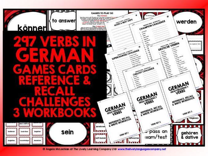 GERMAN VERBS CARDS & WORKBOOKS