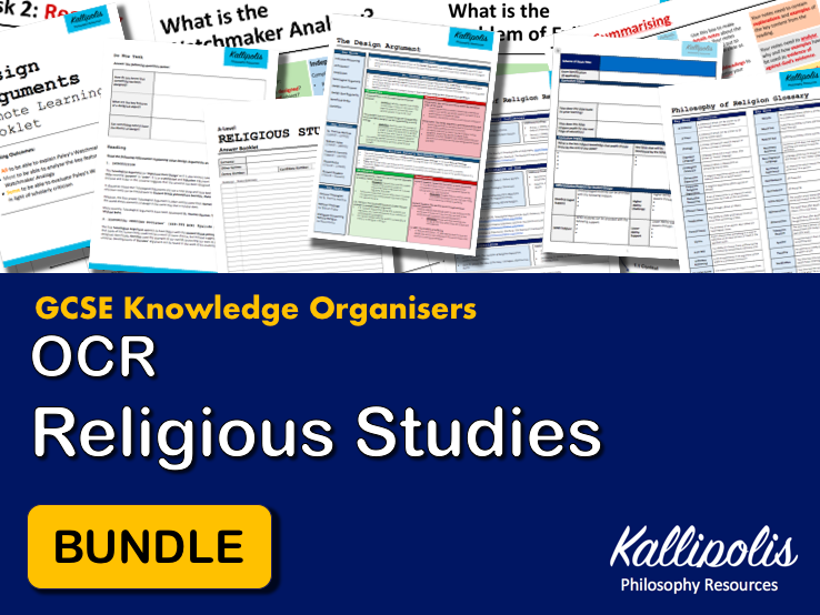 GCSE OCR Religious Studies Knowledge Organisers - Revision Pack
