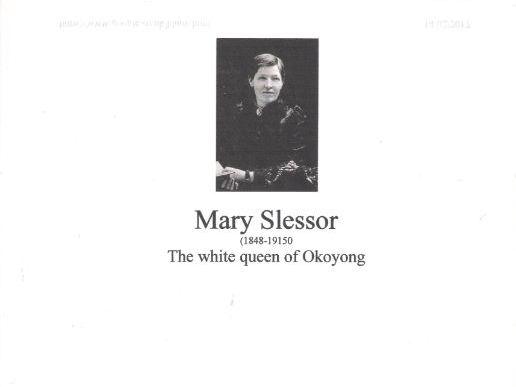 Mary Slessor   Missionary  (1848- 1915)