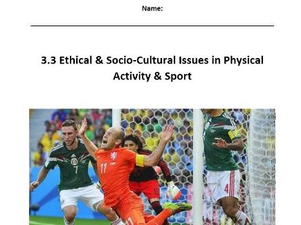 Edexcel New GCSE PE 9-1. Ethical & Socio-Cultural Issues - Pupil Workbook