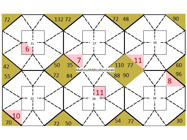 KS3 and KS4 number challenge starter activity involving logic, addition, mulitplication