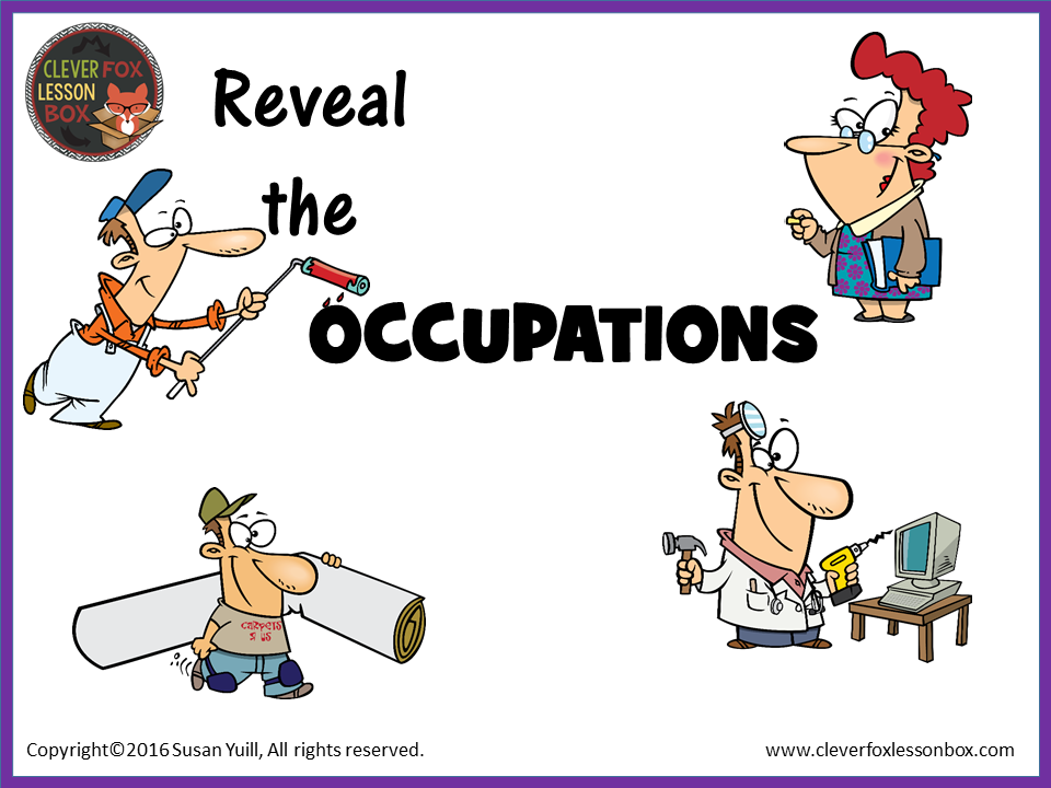 Occupations PPT Reveal Game