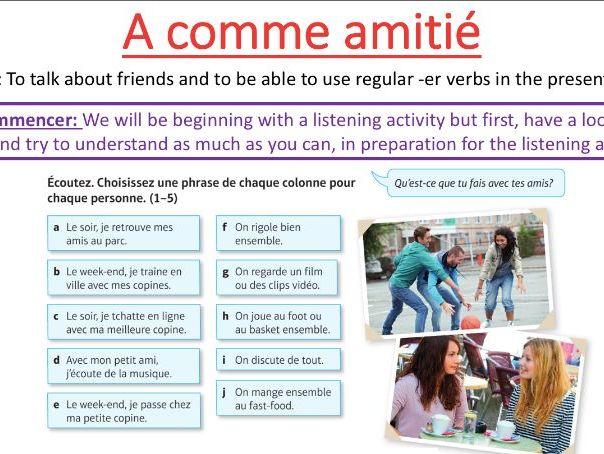 A comme amitié STUDIO MODULE 1 Lesson