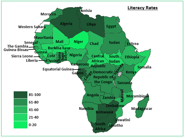 Africa: Literacy Rates and Female Inequality in Education