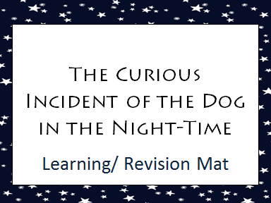 The Curious Incident of the Dog in the Night-Time Learning/ Revision Mat