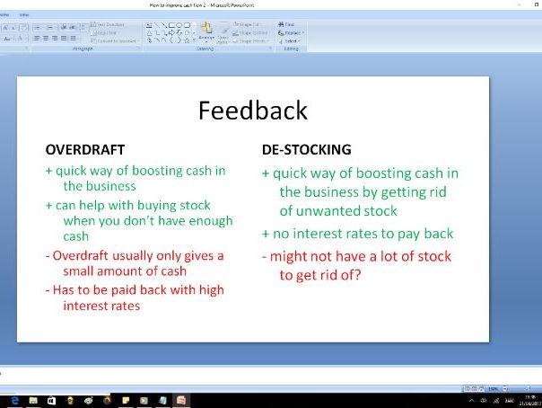 How to improve cash flow II - GCSE Business