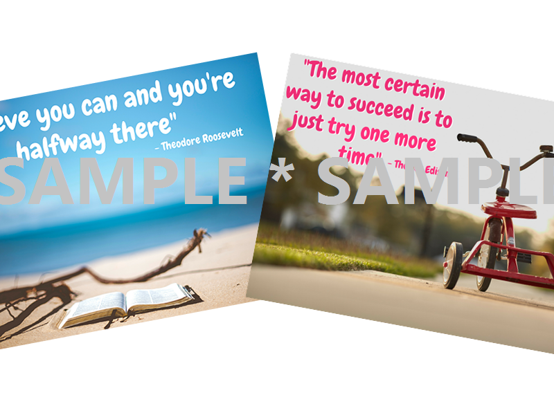 Motivation - believe and succeed ¦ 2 x posters