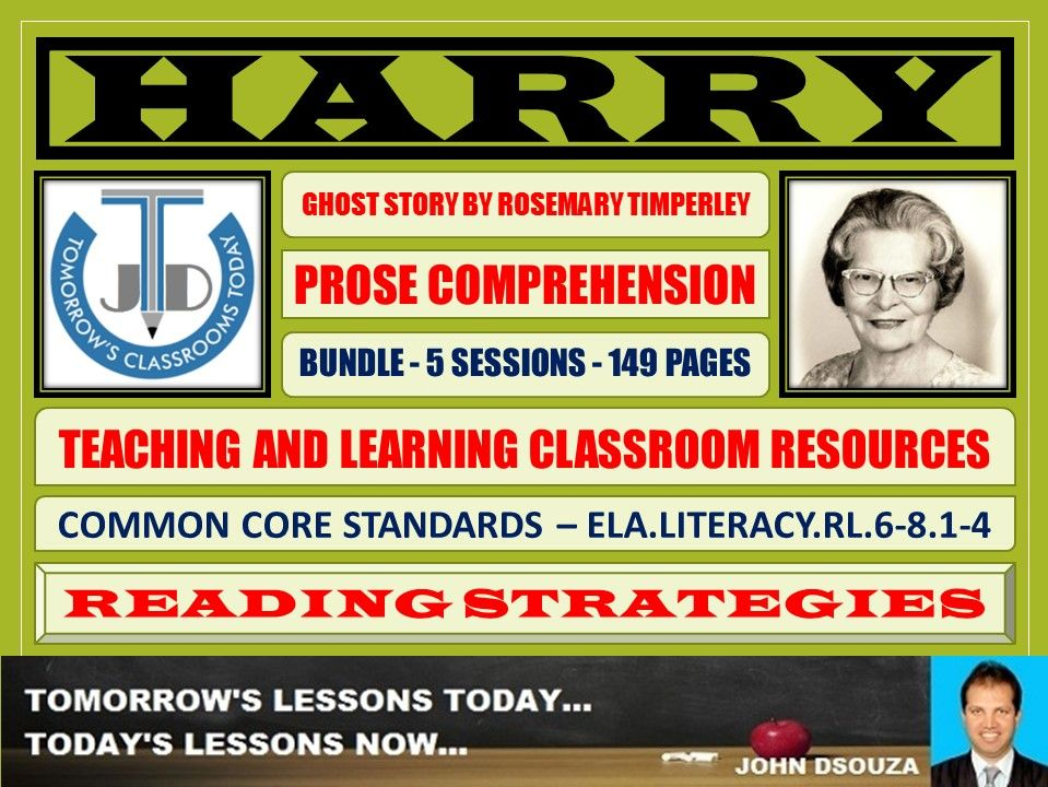HARRY - COMPREHENSION CLASSROOM RESOURCES - BUNDLE
