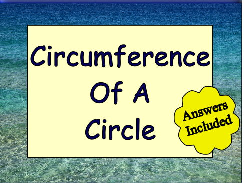 Circumference of A Circle and Quadrants - with answers