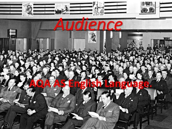 AS English Language: Audience and Analytical Framework