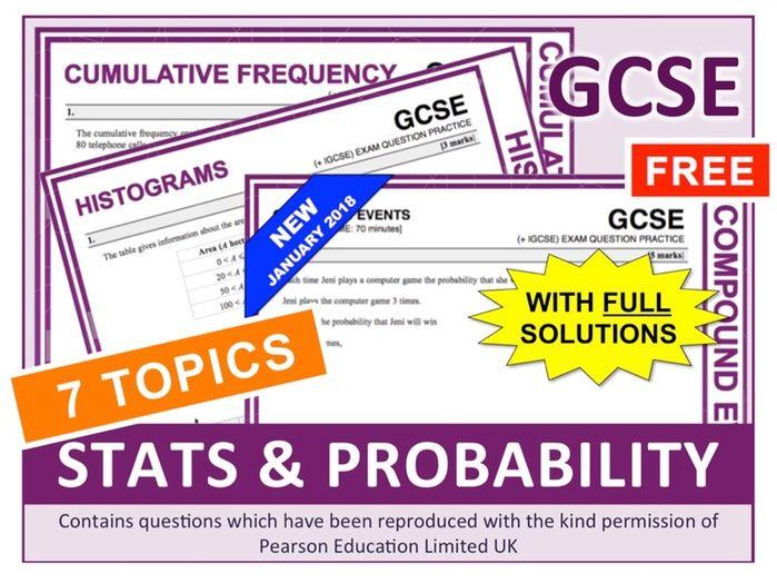 GCSE 9-1 Statistics + Probability (Bundle)